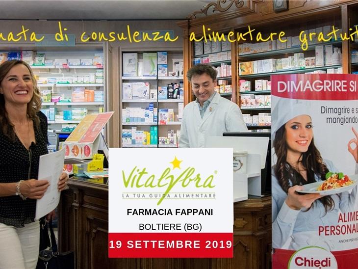 19 settembre - Consulenza alimentare gratuita a Boltiere (BG)